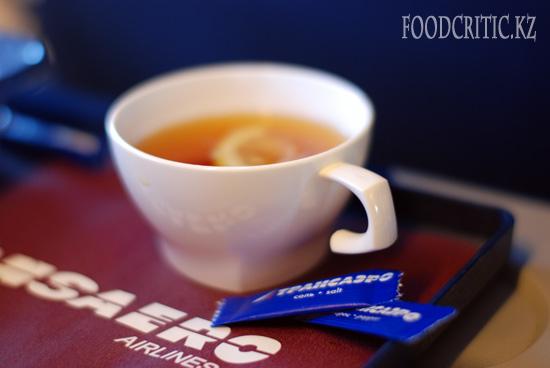 Самолетная еда Трансаэро - чай